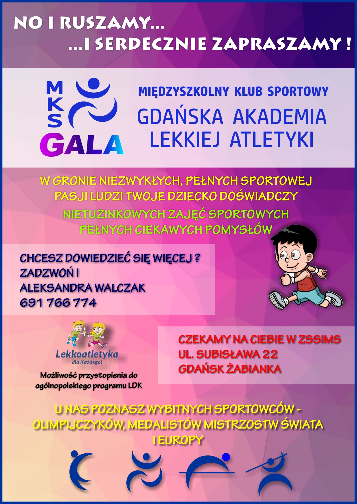 Ulotka MKS GALA Gdańsk