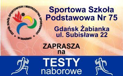 Testy naborowe SSP 75